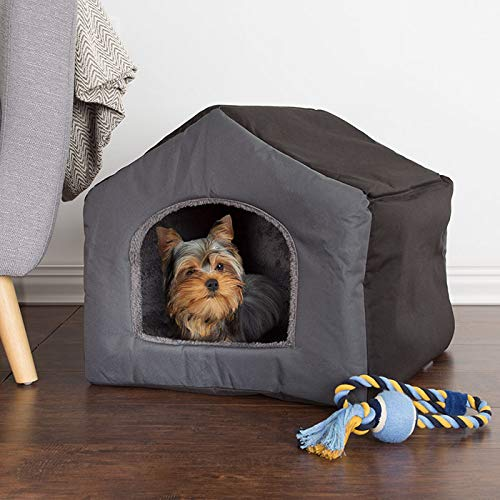Petmaker Cozy Cottage House Shaped Dog Bed - Gray