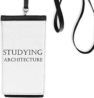 DIYthinkerShort Phrase Studying Architecture Phone Wallet Purse Hanging Mobile Pouch Black Pocket