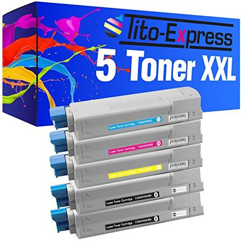 Tito-Express PlatinumSerie 5 Toner XXL für Oki C5950 C5850 N C5850 DN C5950 C5950 N C5950 DN C5950 DTN