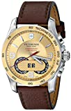 Victorinox Unisex 241617 Chrono Classic Two-Tone Stainless Steel Watch with Brown Leather Band