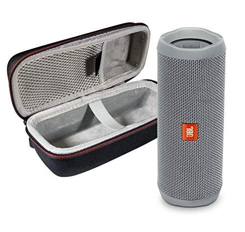 JBL Flip 4 Portable Bluetooth Wireless Speaker Bundle with Protective Travel Case - Gray (Renewed)