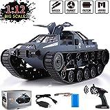 1:12 Scale Remote Control Tank - Off Road RC Car, All Terrain Tank