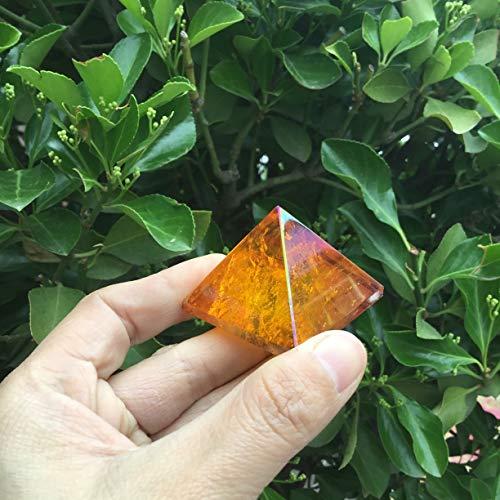 ERTERT Amber AUBER Aura PIRATZ PIRAMIDA Naranja Aura Cristal DE CUTIMIZ Cristal DE CUTAMIENTO Mana DE Punto (Color : 2pcs)
