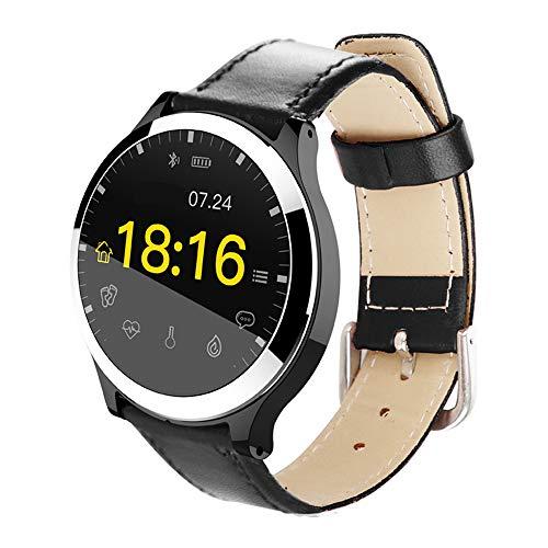 Jian E Intelligente armband, multifunctionele oefening, ECG-hartslag-bloeddruk-kleurenbeeldscherm, rond, siliconen, uniseks horloge /, A