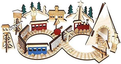 Meri Meri 45-2549 Wooden Train Advent Building Kit by Meri Meri