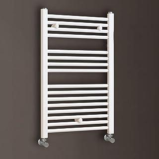 Kibath L305474 Sèche-serviettes radiateur pour intégrer dans circuit d'eau chaude, tubes en acier avec finition laquée en ...