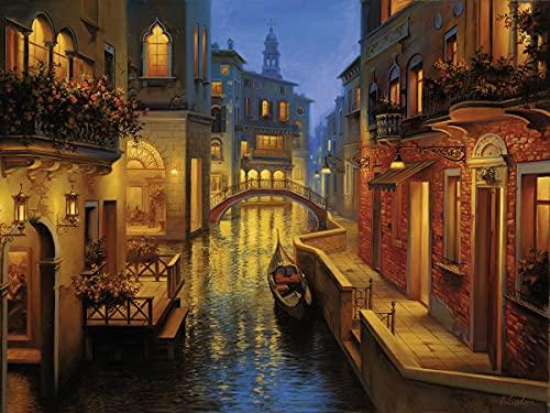 Ravensburger Puzzle 1500 Pezzi, Canale Veneziano, Puzzle Venezia, Jigsaw Puzzle per Adulti, Puzzle Ravensburger - Stampa di Alta Qualità