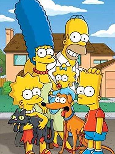 Puzzle De 300/500/1000 Piezas,Simpsons Puzzle Educativo Multicolor Puzle Brain Teaser Quality Obra De Arte De Juego De para Regalos De Niños Y Adultos S