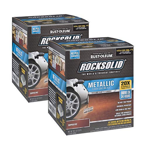Rust-Oleum RockSolid Copper Pot Metallic Garage Floor Kit - 2 Pack