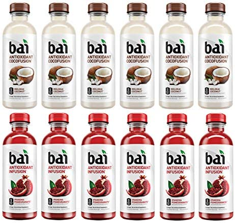 LUV BOX Variety BAI ANTIOXIDANT Juices pack pack of 12 18 fl oz COCOFUSION MOLOKAI COCONUT INFUSION product image