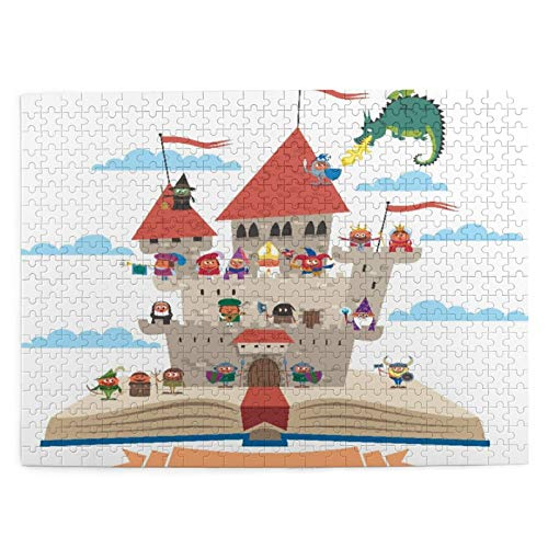 Jigsaw Puzzles 500 Pieces,Fairy Tale Story Book Castle King Queen Princess...