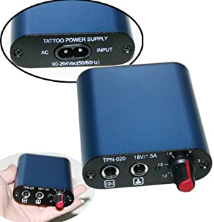 One Tattoo World Professional Tattoo Blue Mini Power Supply, OTW-P034-3