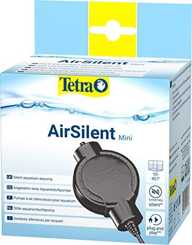 Tetra AirSilent Mini - Aeratore per acquari Silenzioso e Compatto, Set Completo Dotato di Pietra porosa, 10 a 40 Litri