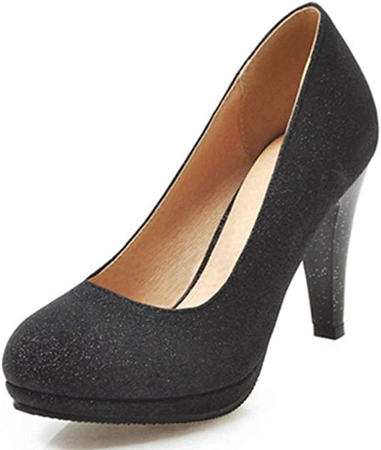 CUTEHEELS Women Dressy Pumps with High Heel and Thick Platform