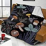 KCOUU - Manta de franela para sofá o cama, diseño de setas de bosque salvaje oscuro