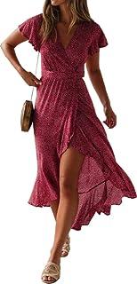 فستان لل نساء مقاس M , احمر - فساتين عملية كاجوال