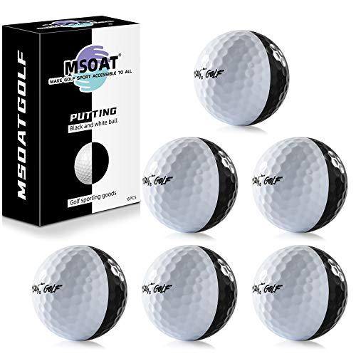 Balle D'entraînement de Golf au Putting Set de 6 Balles de Practice Golf pour L'entraînement Noir...