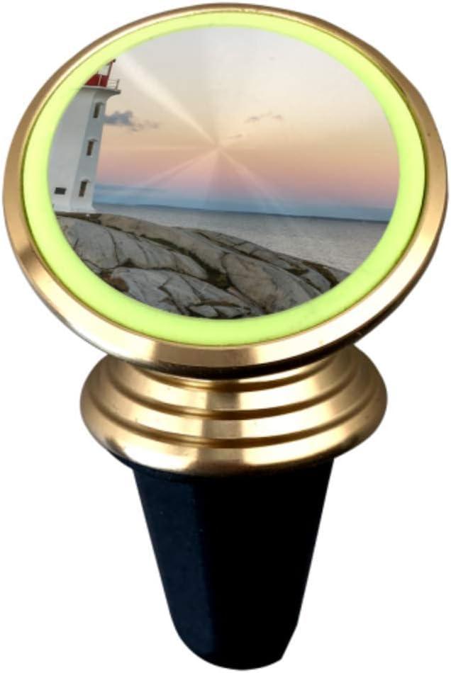 Un faro brillante Soportes para teléfono con montaje en automóvil Soporte magnético para teléfono móvil en el automóvil Soporte de ventilación de aire con imán fuerte Rotación de 360 ° Soporte univ
