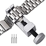 Vkermury Watch Link Removal tool,Watch Link Remover Kit with 3 Extra Pins,Makes Adjusting Watch Band Easy and Quick