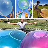 DALADA Wasserball Bubble, Giant Reißfest Bubble Balls, TPR Transparenter Aufblasbarer Ball Wasser,...