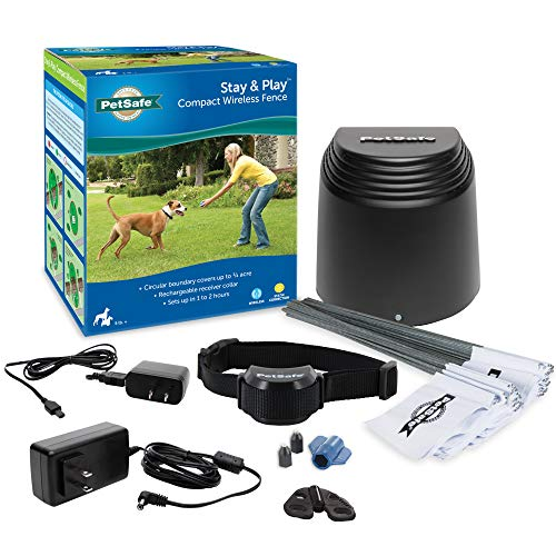 PetSafe Stay & Play Compact Wireless Fence for Dogs and Cats – from the Parent Company of Invisible Fence Brand – Above Ground Electric Pet Fence