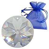Kristall Sonne ø 45mm im feinem Geschenkbeutel Hoch Brillant Regenbogenkristall Feng Shui Fenster-Deko Kristallglas Facettenreich 30% Bleikristall Suncatcher