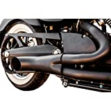 Trask Performance Hot Rod 2 into 1 Black Exhaust System for 2005-2015 Victory Cruisers