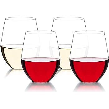 MICHLEY Unzerbrechlich Tritan-Kunststoff weingl/äser BPA-frei 500 ml plastik Tasse rotwein trinkglas gl/äser fur Camping Party