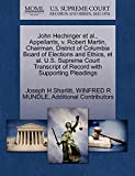 John Hechinger et al., Appellants, v. Robert Martin, Chairman, District of Columbia Board of Elections and Ethics, et al. U.S. Supreme Court Transcript of Record with Supporting Pleadings