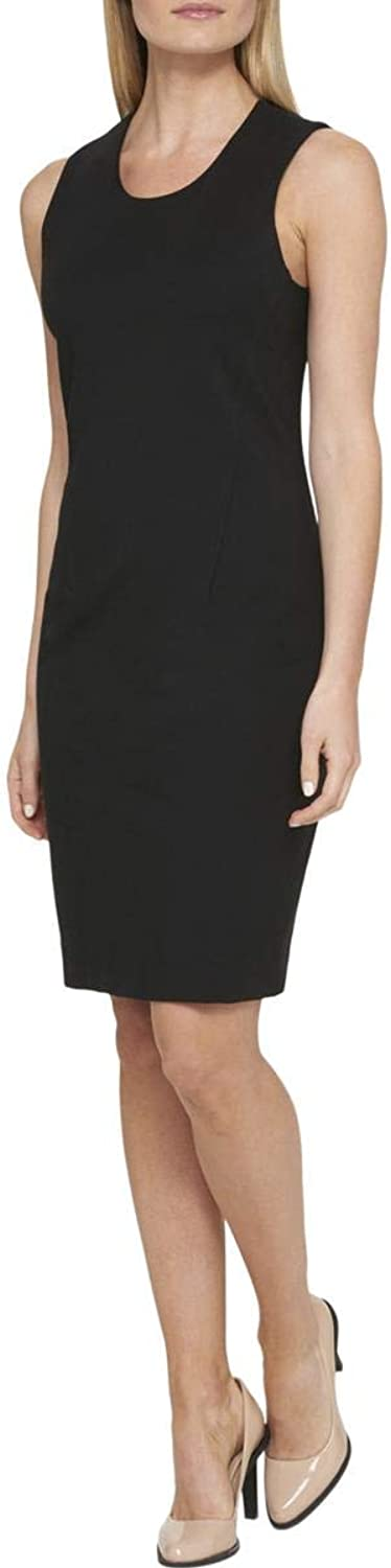 DKNY Womens Scoop Neck Sleeveless Cocktail Dress