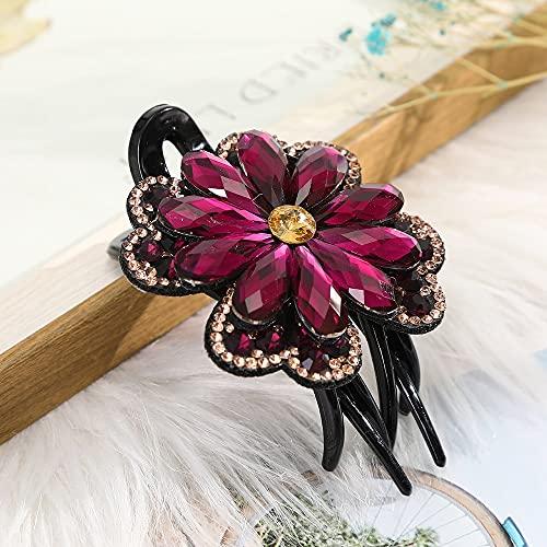 LANHUAN Rhinestone Flower Flower Flower Butterfly Duckbill Capelli Artigli retrò Clip for Capelli Accessori for Le Donne Shinning Headwear (Color : CB0670-D)