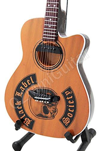 OZMiniGuitar - Guitarra acústica en miniatura, diseño de Zakk Wylde Black Label Society Epiphone