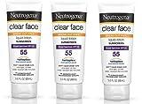 Neutrogena Clear Face Liquid Lotion Sunscreen For Acne-Prone Skin IiPEKQ, Broad Spectrum Spf 55, 3 Fl. Oz. 3 Pack