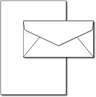 Blank Letterhead Paper & Envelopes - 40 Sets - Unique Executive Size (7
