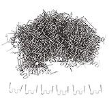 Bzocio 1000 Pezzi Graffette per Cucitrice Un Caldo Plastica Riparazione Punti D'Onda Paraurti Riparazioni Carrozzeria 0.8Mm Punti Onda S