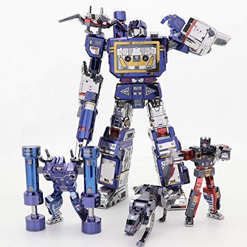 MU Transformers G1 - Nastro adesivo Laserbeak Ravage + Frenzy + Rumble 3D in metallo Kit fai da te Assemblare Puzzle tagliato al laser Jigsaw giocattolo YM-L049