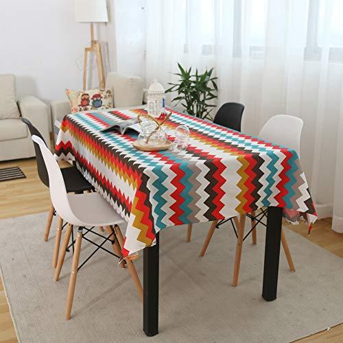 AMCER Mantel de Mesa 80x140cm, Pano de Tabla, Sin Arrugas, Anti-Stain, para Decoracion de la Mesa de Comedor - Rayas Gruesas