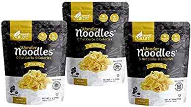 Wonder Noodles - Fettuccine - Carb-Free, Keto Pasta - Gluten-Free, Kosher, Vegan, Zero Calories - ready to eat (Includes 6...