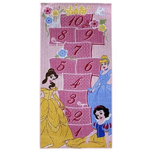 Associated Weavers Tappeto da Pavimento Disney con Disegno per Il Gioco della Campana, Poliammide, Rose, 80 x 160 cm
