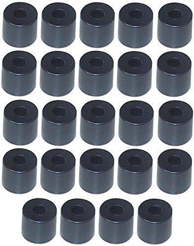 Adam Hall Hardware 4913M24Ah–Set di 24–piede in gomma 38x 33mm Nero in sacchetto