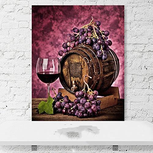 Preisvergleich Produktbild WSNDGWS Rotweinglas Frisches Obst Europäische Küche Restaurant Hotel Warme Dekorative Malerei Handgemalte Dekorative Ölgemälde D5 50x70 cm