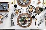 Vancasso, Haruka Kombiservice aus Porzellan, 40 TLG. Rund Geschirr Set, mit Kaffeebecher, Müslischale, Dessertteller, Flachteller und Tiefteller, Tafelservice für 8 Personen - 8