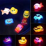 MMTX Jouets de Bain pour bébé, Jouet de Bain Luminieux Jouets de Baignoire, S'illumine au Contact de l'eau, idee Cadeau pour Filles ou garçons