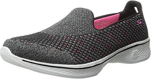 Skechers Women's Go Walk 4 Kindle Black/Hot Pink Walking...