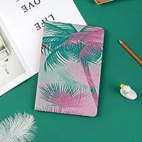 カスタム iPad Pro 11 2018 ケース (2018新モデル) マグネットス吸着式 オートスリープ機能ピンクと緑の木々ヴィンテージ装飾とビーチパーティーのテーマ鮮やかな組成