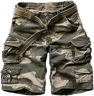 (ノーブランド品)220026-46迷彩B M新品 メンズ 工装ショートパンツ  迷彩ハーフパンツ 短パン 半ズボン 大きいサイズ 夏 5分ブラウン