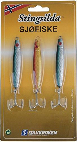 Solvkroken Stingsilda - Juego de 3 cebos para bacalao, rodablo