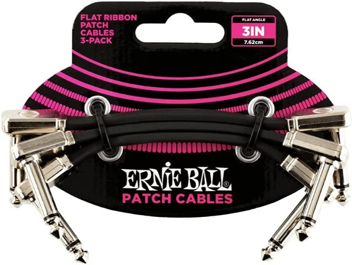 Ernie Ball Flat Ribbon famous Patch Cable 1 Super special price Inch P06220 3 Black 4