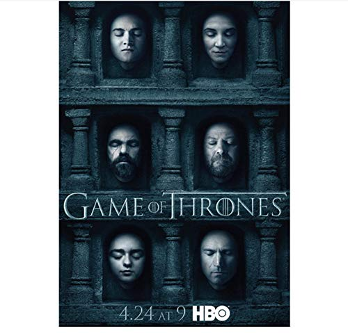 ACUOHU Canvas Painting Game of Thrones Season 7 Poster Modern Style Wall Art Poster Vintage Wall Sticker Prints Art Mural (40X60Cm) Hg506 Sin Marco