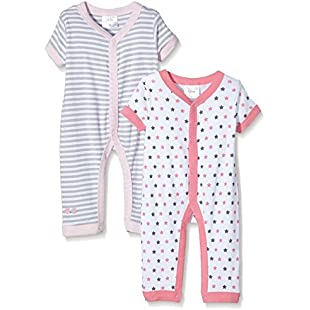 Twins Baby Girls Romper - Multicoloured - 0-3 Months